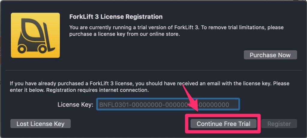 ForkLiftを起動する画像